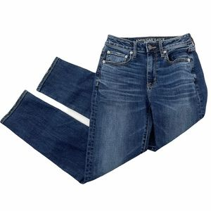 American Eagle High Rise Slim Ankle Jeans sz 2